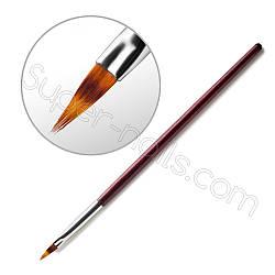 Кисть для омбре, градиента с деревянной ручкой