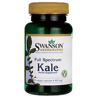 Full Spectrum Kale, Swanson, 400 мг, 60 капсул