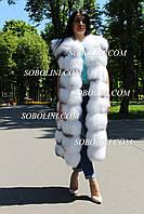 Жилет из меха полярной лисы индивидуальный пошив