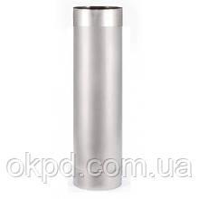 Труба диаметром 130 для дымохода из нержавеющей стали марки  AISI 201 длинной 0,5 метра