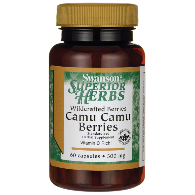 Wildcrafted Camu Camu Berries, Swanson, 500 мг, 60 капсул