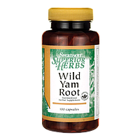 Дикий Ямс, Wild Yam Root, Swanson, 405 мг, 100 капсул