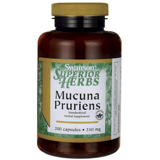 Мукуна Жгучая, Mucuna Pruriens, Swanson, 350 мг, 200 капсул