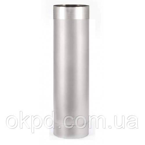 Труба диаметром 230 для дымохода из нержавеющей стали марки  AISI 201 толщиной 0,8 мм длинной 0,5 метра