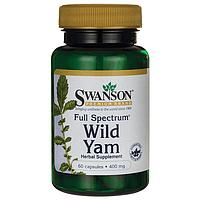 Дикий Ямс, Full Spectrum Wild Yam, Swanson, 400 мг, 60 капсул