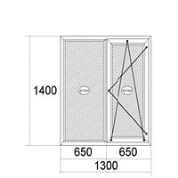 Окно Steko 1400мм х 1300мм