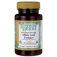 Maximum Strength Olive Leaf Extract, Swanson, 100 мг, 60 капсул