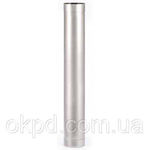 Труба диаметром 130 для дымохода из нержавеющей стали марки  AISI 201 толщиной 1 мм длинной 1 метр