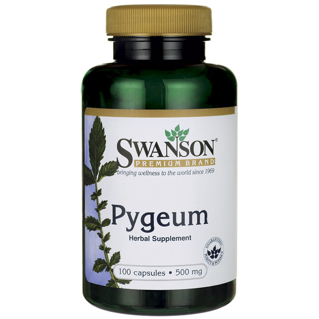 Pygeum, Swanson, 500 мг, 100 капсул