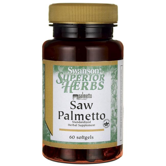 Со Пальметто, Saw Palmetto, Swanson, 320 мг, 60 капсул