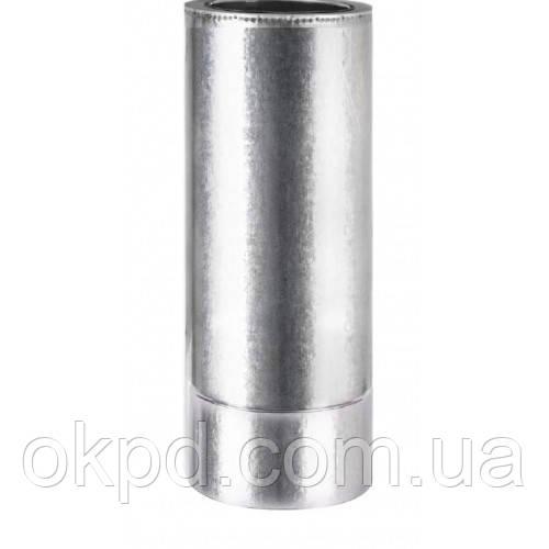 Труба диаметром 140/200 для дымохода из нержавеющей стали марки  AISI 201 в оцинкованном кожухе длинной 0,5