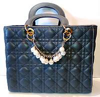Сумка женская Lady Dior серая