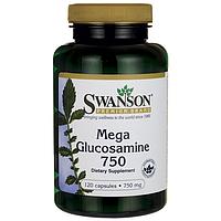 Глюкозамин Сульфат, Mega Glucosamine 750, Swanson, 750 мг, 120 капсул