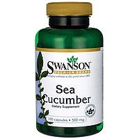 Морской огурец, Sea Cucumber, Swanson, 500 мг, 100 капсул