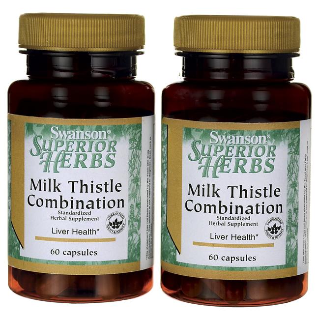 Формула Расторопши, Milk Thistle Combination, Swanson, 120 капсул