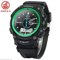 Мужские наручные часы Ohsen Run зеленые