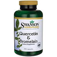 Кверцетин и Бромелайн, Quercetin & Bromelain, Swanson, 250/78 мг, 250 капсул