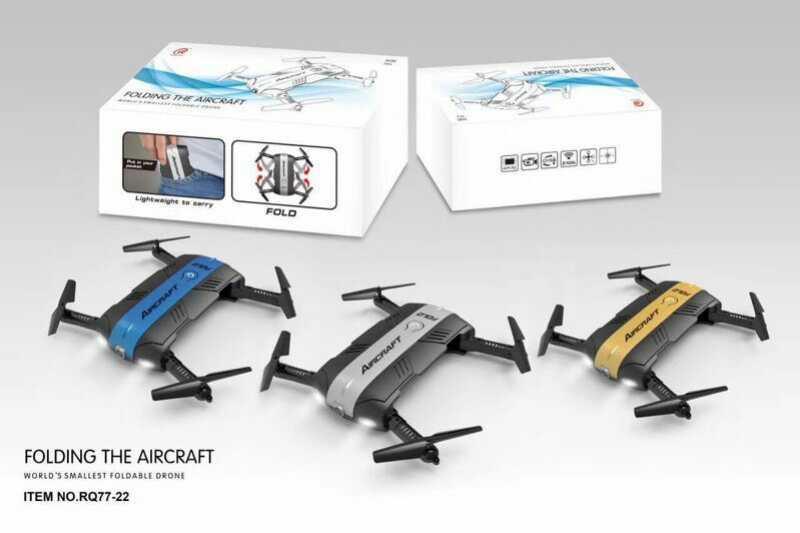 Карманный Квадрокоптер aircraft  (камера + вайфай) со световыми эффектами