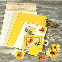Набор скрапбукинга для изготовления 3-х больших открыток с конвертами 21648-22