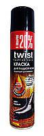 Краска аэрозоль для гладкой кожи Twist Fashion Care цвет Черный - 300 мл.