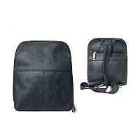 Женский стильный городской рюкзак из кожи PU серого цвета