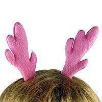 Заколка для волос Ушки Оленёнка Розовые яркие / заколка украшение для девочек