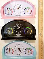 Метеостанция Гигрометр, Термометр, Часы, Будильник