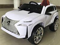 Детский электромобиль RX350 Lexus, кожа, амортизаторы, белый