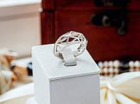 "Серебряное кольцо с геометрическим рисунком ""Геометрия"""