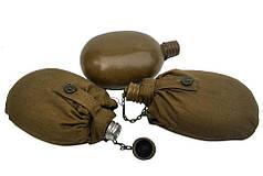 Фляга армейская с чехлом.