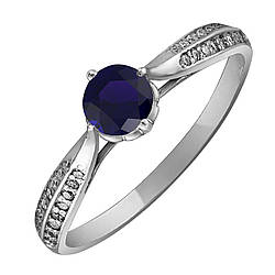 Кольцо из серебра с куб. циркониями 173860,