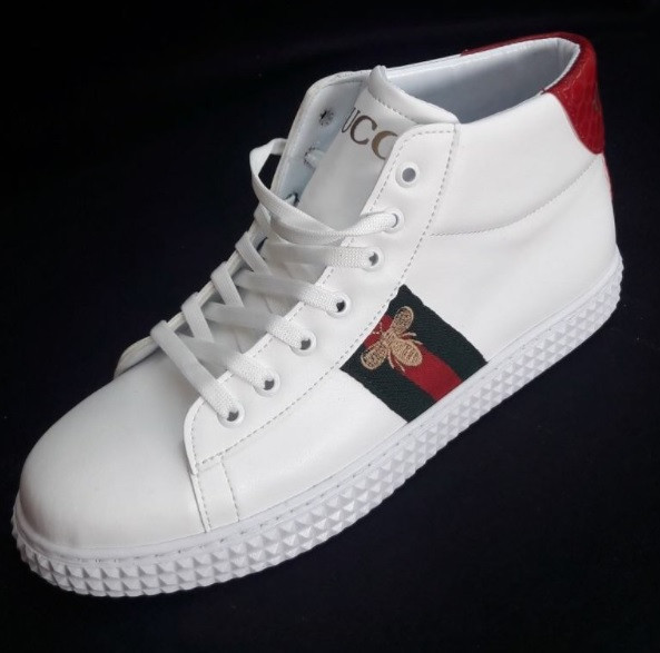 Кроссовки мужские GUCCI D2222 белые высокие - купить по лучшей цене ... 6c54fa00d82