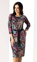 Женское осеннее платье с рукавом три четверти. Модель Waleria Top-Bis, коллекция осень-зима 2017-2018