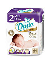 Памперсы Dada  premium 2mini 3-6 kg 64 шт