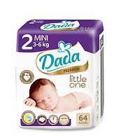 Памперсы Dada  premium 2mini 3-6 kg 64 шт, фото 2