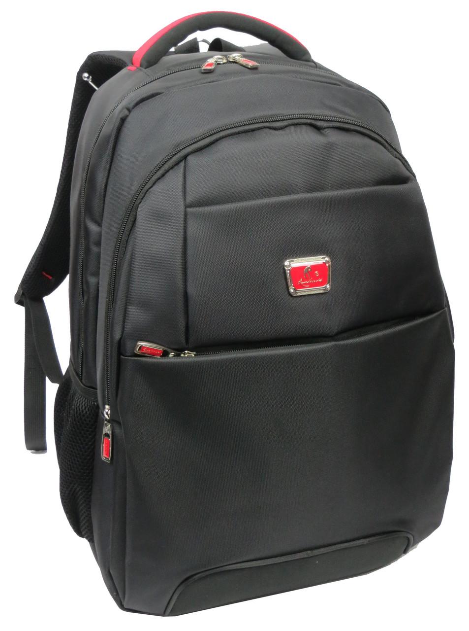Практичный городской рюкзак для ноутбука 15,6 Whisky 210071 черный