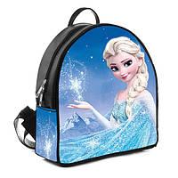 Черный детский рюкзак с принтом Эльза Холодное сердце