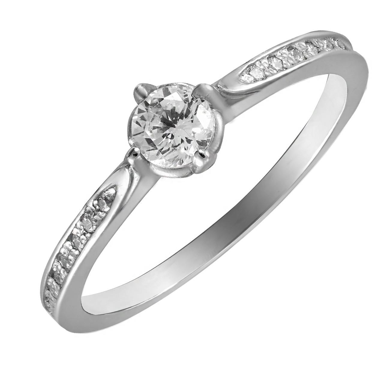 Кольцо из серебра с куб. циркониями K009w
