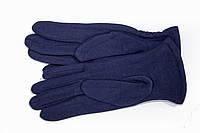 Женские стрейчевые перчатки Цветные Темно-синие СРЕДНИЕ, фото 1