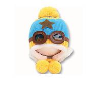 Шапочка зимняя детская на завязках для мальчика