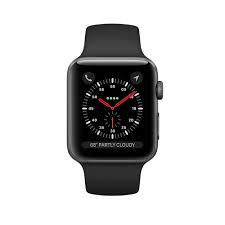 Apple Watch Series 3 42mm Space Gray Aluminum Case with Black Sport Band (MTF32)