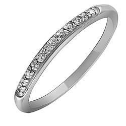 Кольцо из серебра с куб. циркониями K014W
