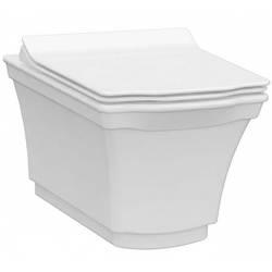Чаша безободкового подвесного унитаза с функцией биде IDEVIT Neo Classic Iderimles (3304-0615) белый