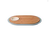 ORIGINAL BergHOFF 3950060  Доска для нарезки LEO, с поддоном и емкостью для соуса, 39 х 23 х 2,5 см