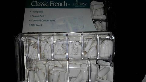 """Типсы """"EzFlow"""" белые френч 500шт"""