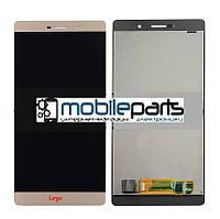 Оригинальный  Дисплей (Модуль) + Сенсор (Тачскрин) для  Huawei P8 Max (DAV-703L) (Золотой)