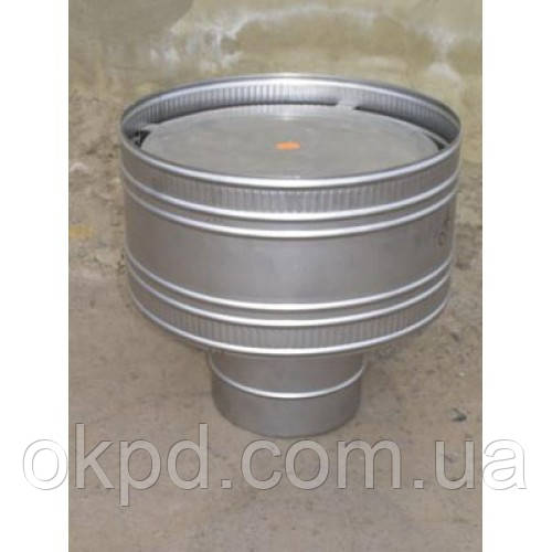 Дефлектор диаметром 140 для дымохода из нержавеющей стали марки  AISI 304