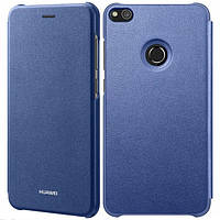 Чехол книжка для смартфона huawei p8 lite 2017 flip cover blue (51991902_)