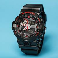 Тренд 2017! Стильные  часы Casio  G-Shock GA-700 BLACK-RED  (касио джи шок)