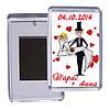 """Свадебный акриловый сувенирный магнит на холодильник """"Большая любовь"""""""